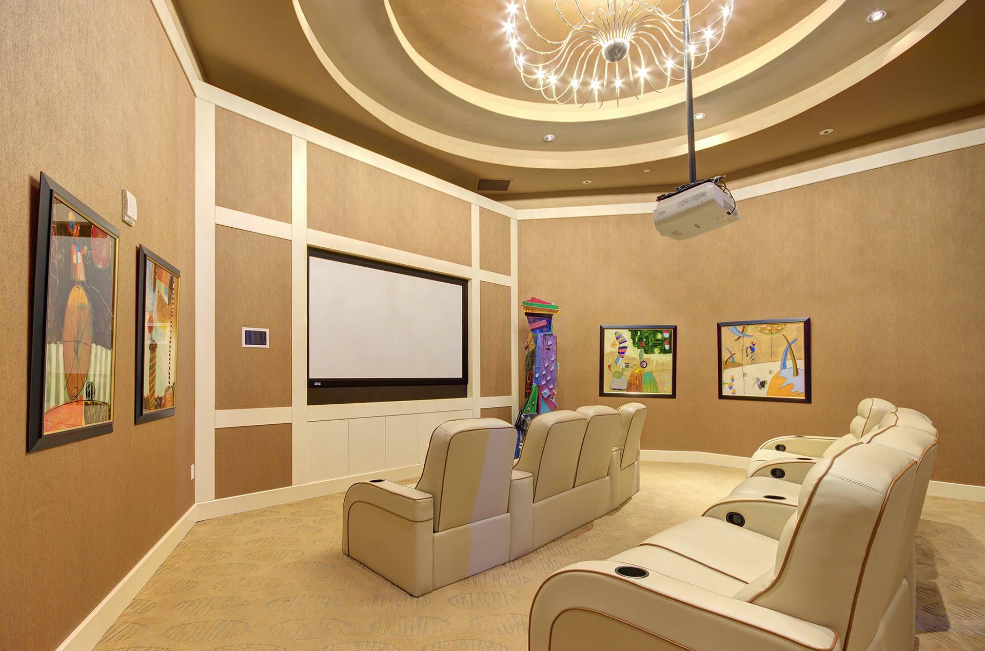 Real estate photo media room
